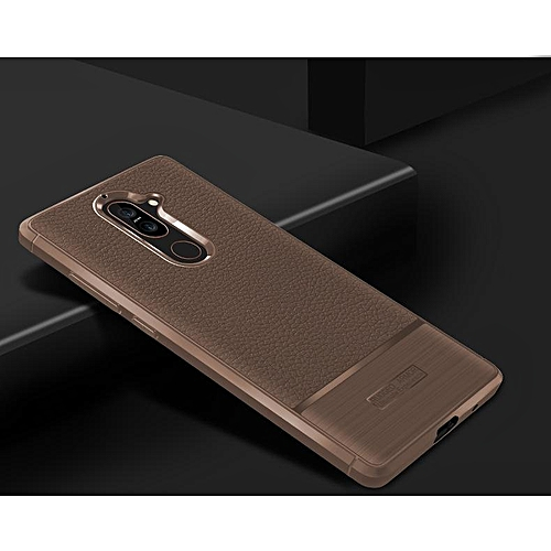 Buy Generic Soft Case For Nokia 7 Plus Luxury Litchi Pattern Soft Silicone Case Cover For Nokia 7 Plus Casing 230729 (Brown) @ Best Price | Jumia Kenya