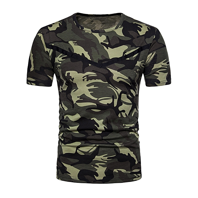 Fitted Camouflage T-shirt - ARMY GREEN 3b0220b4283