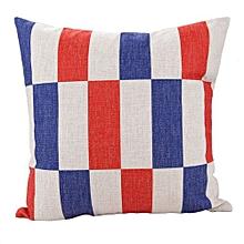 Unisex Minimalist Style Square Linen Pillow - Colormix