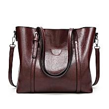 Elegant Women's Shoulder Bag Oily Soft Leather Tote Sling Bag