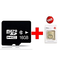 Micro SD Card - 16GB Standard - Black + Ring Holder Gold