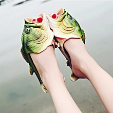 Fish Style Eva Material Summer Beach Sandals Simulation Fish Beach Slippers For Children And Women, Size: 35#