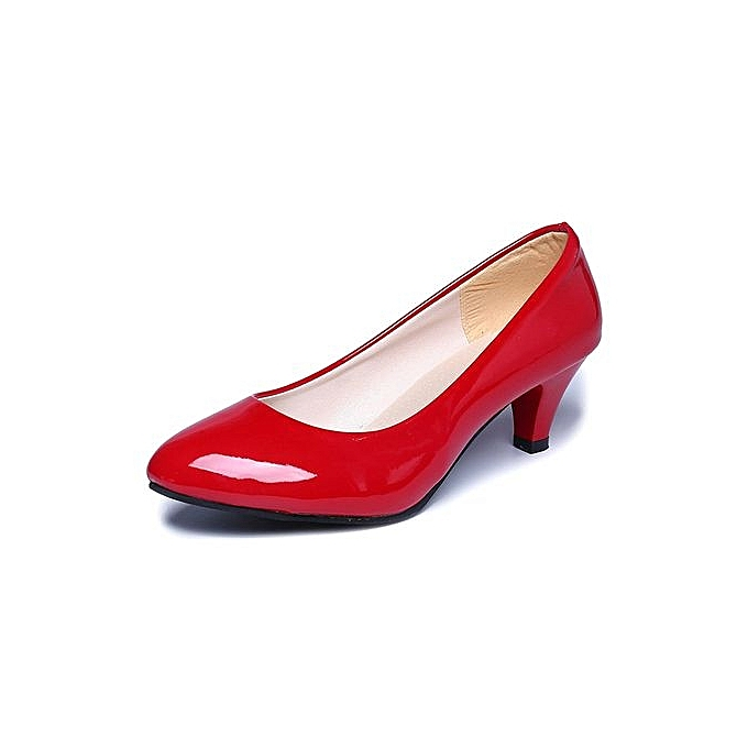 4a58be29923d Nude Shallow Mouth Women Office Work Heels Shoes Elegant Ladies Low Heel  RD 35