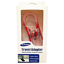 Elegant USB Charging cable android red
