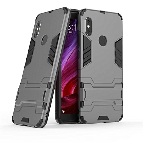 For Xiaomi Redmi Note 5 Case Hybrid Silicone Iron Man Armor Cover For Redmi Note 5 Full Protect Handphone Casing 189017 Grey