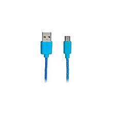 1 M Micro USB Nylon Woven Charging Data Cable For Samsung/ HTC (Blue)