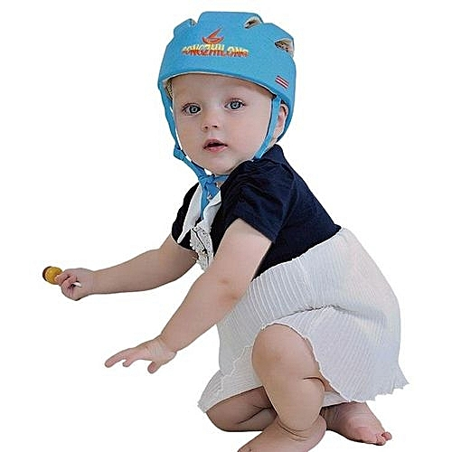 47c69c3f7 Adjustable Infant Baby Safety Helmet Kids Head Protection Caps Hat For  Walking Crawling (Blue)