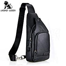 5c796887d4 Male Casual Chest Pack USB Charging Crossbody Bags for Men Shoulder Sling  Bag Travel Crossbody Bag