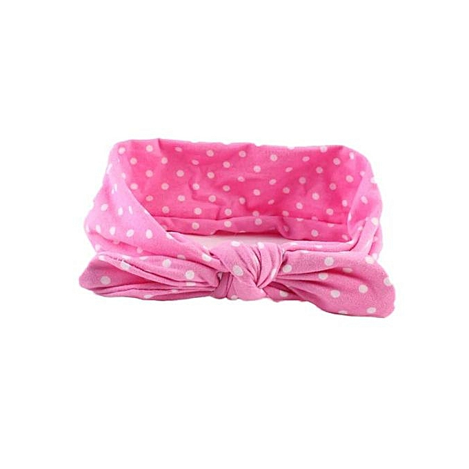6a56daf3db1 Braveayong Baby Infant Kids Girls Rabbit Ears Hairband Turban Bowknot  Headwrap Hairband - Pink