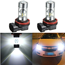 2Pcs H8 H11 60W 12SMD Pure White COB LED Car Motor Bike/ATV Headlight Bulb Fog Light