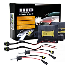 55W H1 6000K 3200LM HID Xenon Light Conversion Kit With High Intensity Discharge Lamp Slim Ballast, White