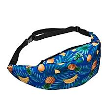 bluerdream-Fashion Sports Hiking Running Belt Waist Bag Pouch Zip Fanny Pack-Blue