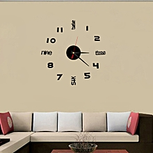Mini DIY Wall Clock 3D Sticker Design Home Office Room Decor -As Shown
