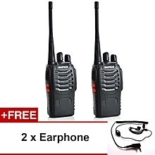 1 Pair BaoFeng BF-888S 16 Channel Walkie Talkie Set UHF 5W + FREE Earphone (2pcs)