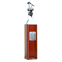 500ml Glass Olive Oil Bottle  Oil & Vinegar Cruet Carafe Decanter for Kitchen Transparent Flagon