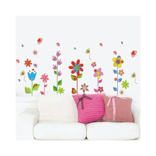 Beautiful Flowers Floral Butterfly DIY Wall Stickers Wallpaper Art Decor  Mural Room Decal Part 70