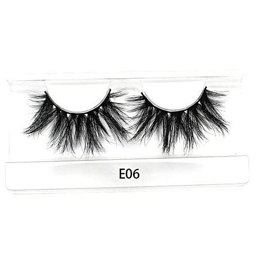 d7536fbebd3 Generic 25mm Long 3D mink lashes extra length mink eyelashes Big dramatic  25mm Mink Lashes 100% Cruelty free Handmade fake lashes(E06)