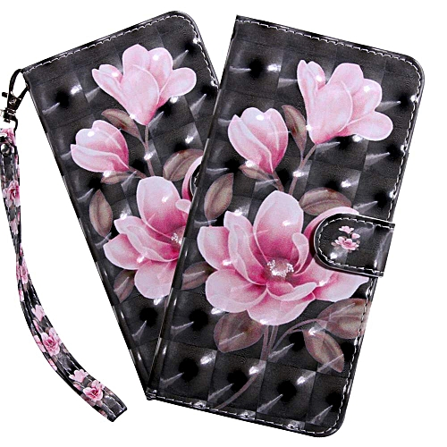LG Q8 Case LG Stylo 4 case 3D Luxury Pink Flower PU Leather Wallet Flip  with Card Holder Kickstand Book Style Magnetic Cover Compatible with LG Q