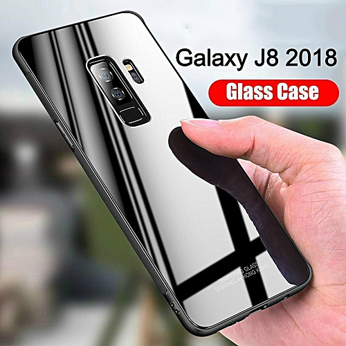 huge selection of d1758 c7ad7 Glass Case For Galaxy J8 2018 Cover Full Protection Tempered Glass Back  Cover Casing For Samsung Galaxy J8 Housing