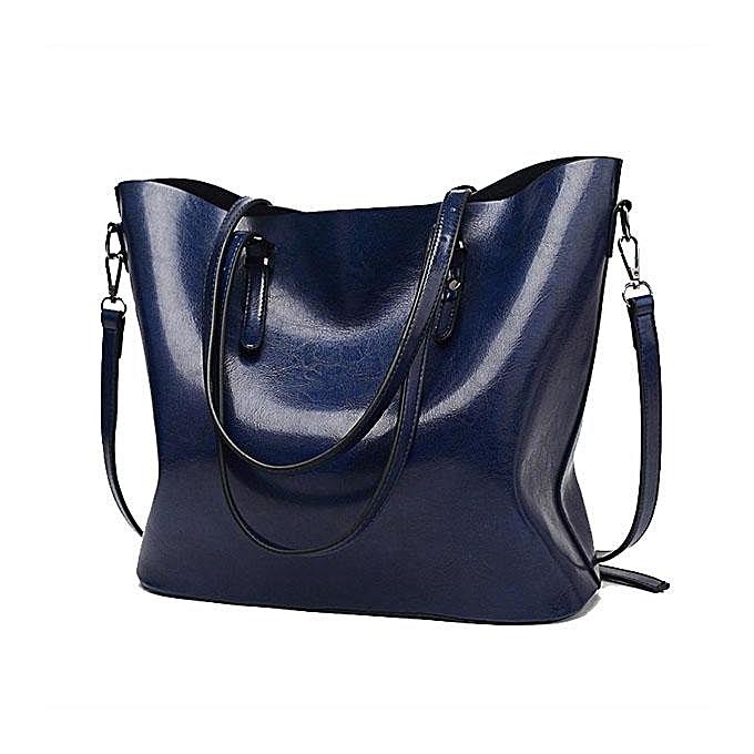 Women Oil Leather Tote Handbags Vintage Shoulder Bags Capacity Big Shopping  Tote Crossbody Bags  dark 406f1fd3b32e0