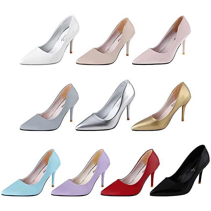 54e0cbe65ad ... Stylish Pointed Toe Ladies Thin High Heel Shoes-SILVER - SILVER - 4