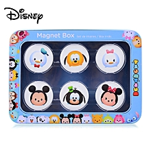 TSUM Cartoon Magnet Box Case With 6Pcs Magnetic Stickers For Kids Children