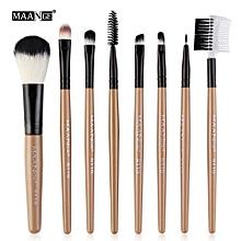 jiuhap store 8pcs Cosmetic Makeup Brush Blusher Eye Shadow Brushes Set Kit-Multicolor