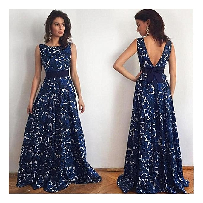 Buy Fashion Hiamok_Women Floral Long Formal Prom Dress Party Ball ...