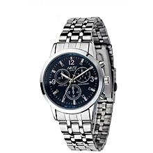 Luxury Waterproof Stainless Steel Quartz Women Wrist Watch Jewelry -Blue