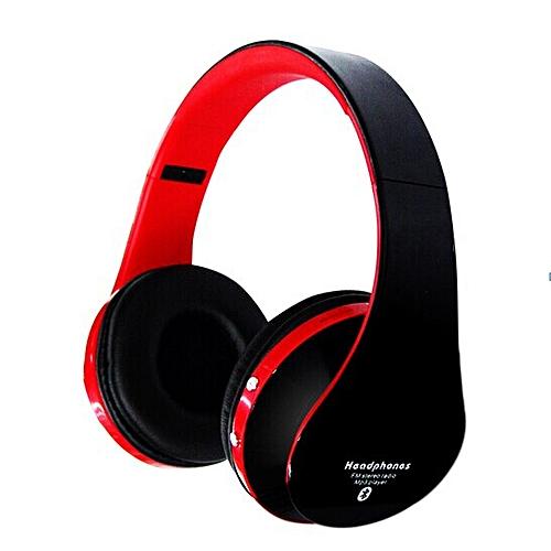 aa900b07a1a Generic Blutooth Big Casque Audio Bluetooth Earphone For Your Head Phone Headset  Cordless Wireless Headphone Headfone PC Mic(Black)