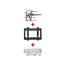 """Digital Receiver Antenna/ Digital Aerial + a FREE 14""""-42"""" TV Wall Bracket and a FREE 4-way Socket Extension Cable"""