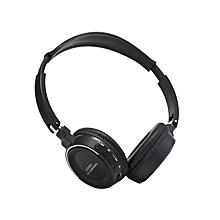 BT - 823 Wireless Bluetooth Headphone with FM Radio TF Card Slot - Black