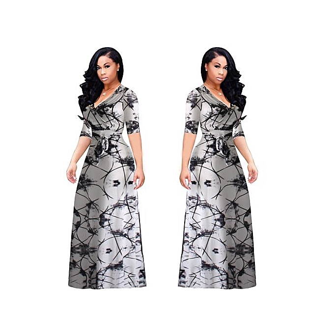 eb8f12ee5e7 Fashion Large Size L-5XL New Women Fat Party Dresses Vestidos Sexy V ...