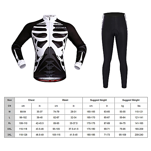 Generic WOSAWE Men s Long Sleeve Cycling Jersey Sets Breathable 4D Padded  Pants Sportswear Mountain Bicycle Bike Apparel Cycling Clothing fad3856aa