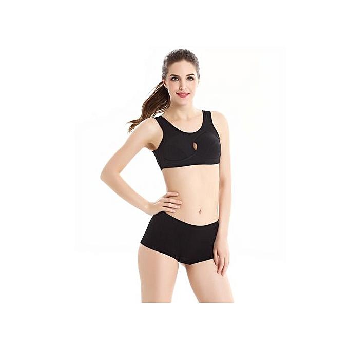 MYS Women Push Up Wire Free Padded Sweat Sports Bra KH L   Best ... 81e629edaf8