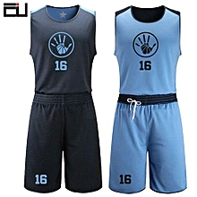 e493f4566 Men  039 s Customized Team And Numbers Basketball Sport Jersey Uniform-Blue(