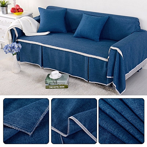 Generic 2 Seat 215*260cm Couch Slipcover Linen Fabric Sofa Cover ...