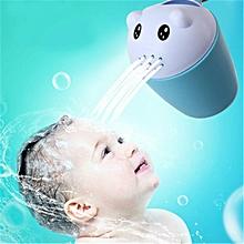 Cartoon bear shampoo cup child shower water spoon baby shower bathing water scoop