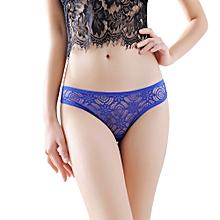 2cd826b13 Women Sexy Lace Briefs Panties Thongs G-string Lingerie Underwear BU- Blue