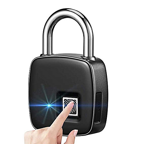 Smart Fingerprint Lock Biometric Portable Waterproof Padlock with Finger  Print Control Safe Outdoor Security Touch Keyless Lock with for Gym Office