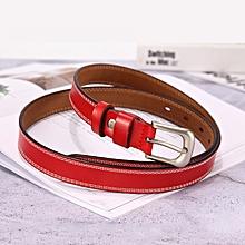 7f10e1b0fe7 Women  039 s leather belt sweet versatile leather pin buckle thin belt  women