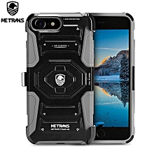 Three-piece Case Anti-knocking Anti-falling Cover For IPhone 7 - Gray
