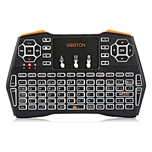 VIBOTON i8 Plus 2.4G Wireless Keyboard Fly Air Mouse Touchpad Backlight Version FULL BLACK SPANISH