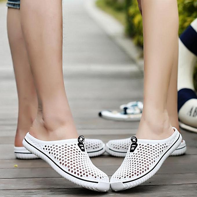4e16c5a2b5f Sandals Men Eva Summer Beach Male Sandals White Red Shoes Walking Men Hole  Shoes Breathable Mens