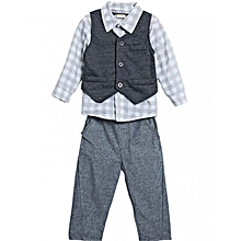 3pcs Boys' Gentleman Set -Grey