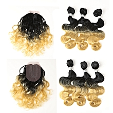 Hair Weaving With Lace Frontal 7PCS In One Bag Body Wave Hair Bundles For Full Head