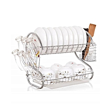 2 Tier Chrome Plated Dish Rack