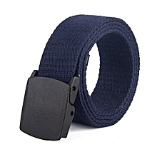 Woven canvas outdoor casual cotton belt(110CM)-blue
