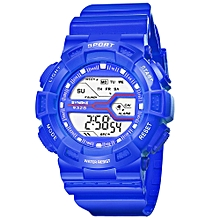 huskspo Children Boys Student Waterproof Sports Watch LED Digital Date Wristwatch