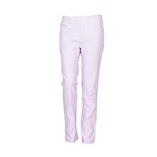 Girls Lilac Fitting Cotton Stretch Pants